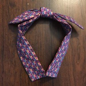 Purple Epcot Spaceship Earth Print Bow Headband